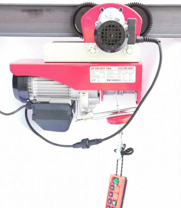 PA 500/1000 med trådløs fjernkontrol og løbekat